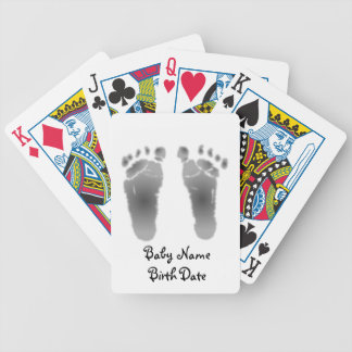 Personalized Baby Footprint Playing Cards