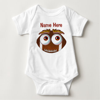 Personalized Baby Funny Football One Piece Baby Bodysuit