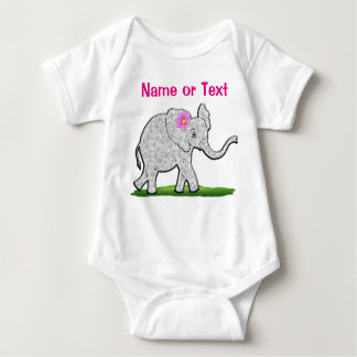 Personalized Baby Girl Apparel Cute Elephant T Shirt