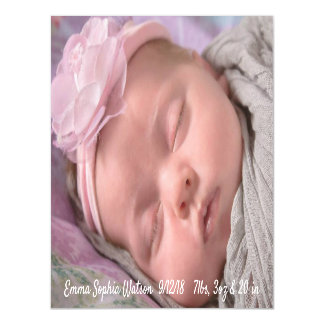 Personalized Baby Girl  Birth Announcement Magnet