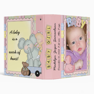 Personalize Your Own Baby Girl Photo Album Binder Stay Organized