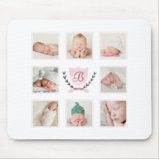 PERSONALIZED BABY GIRL PHOTO COLLAGE MOUSE PAD