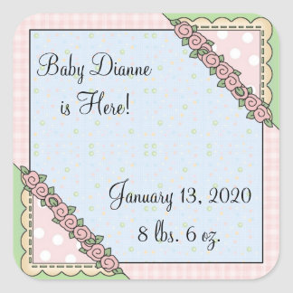 Personalized Baby Girl Stickers