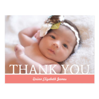 Personalized Baby Girl Thank You Card - 4.25 x 5.6