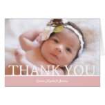 """Personalized Baby Girl Thank You Card - 5"""" x 7"""""""