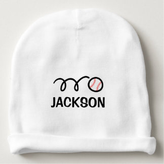 Personalized baby hat with cute baseball design