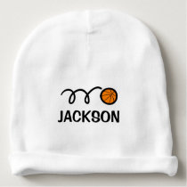Personalized baby hat with cute basketball design
