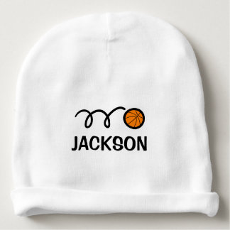 Personalized baby hat with cute basketball design baby beanie