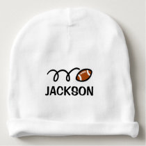 Personalized baby hat with cute football design