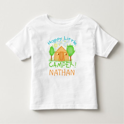 Personalized Baby Kids Summer Camping T Shirt Zazzle