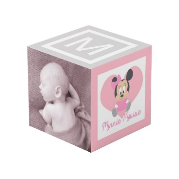 Disney Themed Personalized Baby Minnie and Daisy Cube