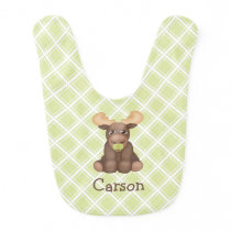 Personalized Baby Moose Bib