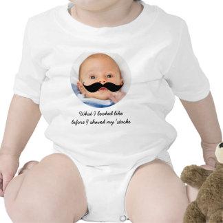 Personalized Baby Mustache Photo Shirt