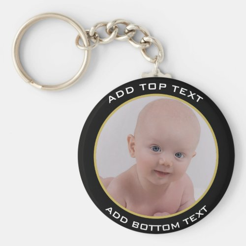 Personalized Baby Photo Button Keychain