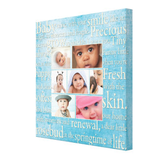 Personalized Baby Photo Collage Canvas Print