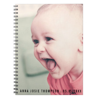 Personalized Baby Photo Gift Book Spiral Notebook