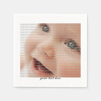 Personalized Baby Photo Party Paper Napkin Set