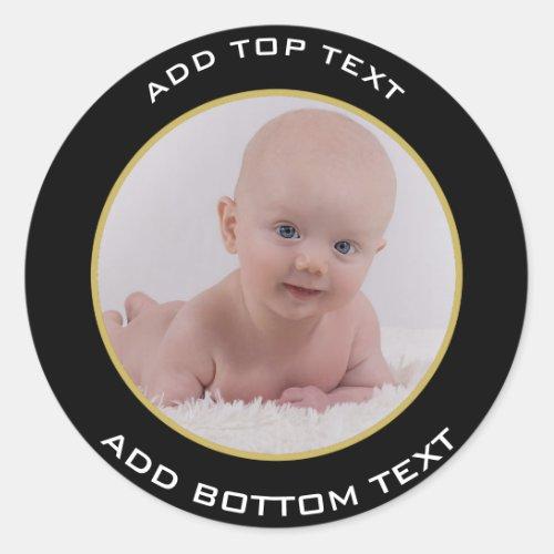 Personalized Baby Photo Sticker