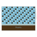 Personalized Baby Polka Dot Thank You Card (blue)