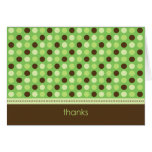 Personalized Baby Polka Dot Thank You Card (lime)