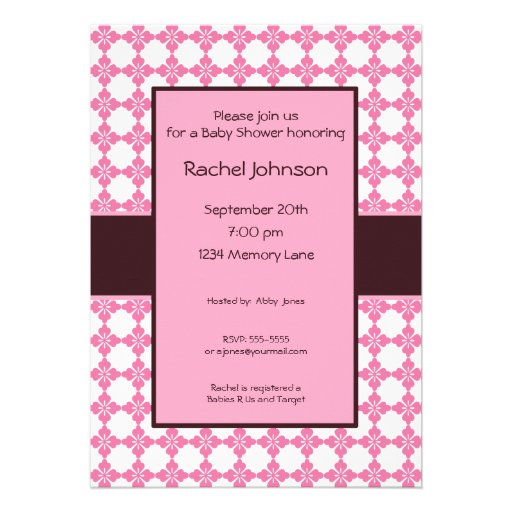 personalized baby shower invitation 5 x 7 invitation card zazzle