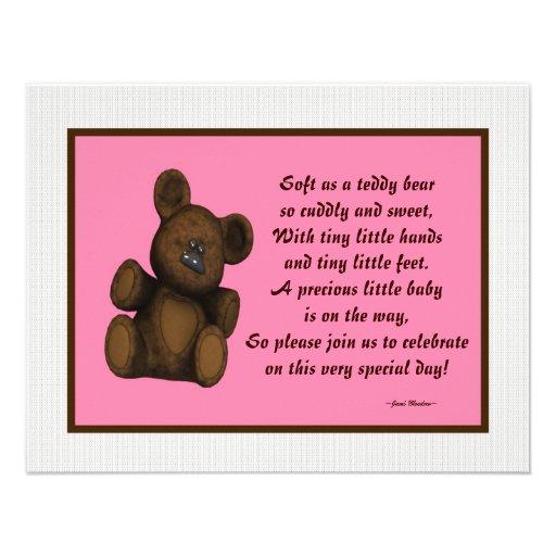 personalized baby shower invitations baby girl x 5 5 invitat