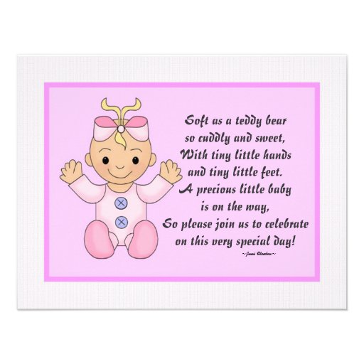 Baby+Shower+Thank+You+Poems Personalized Baby shower invitations Baby ...