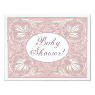 Personalized Baby Shower Invites, Vintage Blush Card