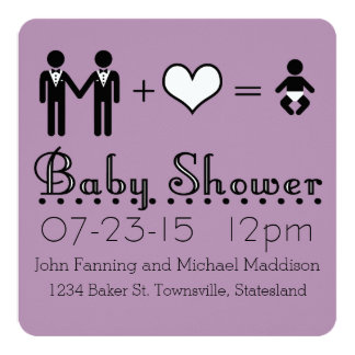Personalized Baby Shower Modern Icon Dad and Dad Card