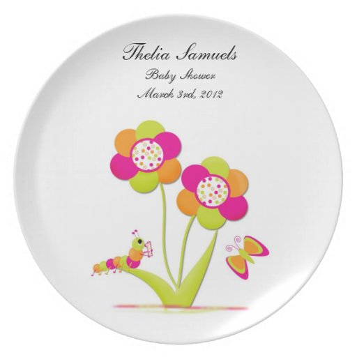 Baby Shower Plate: Personalized Baby Shower Plate