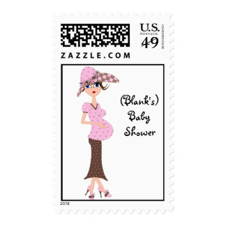 Personalized Baby Shower Postage-Chic Mom Postage Stamps