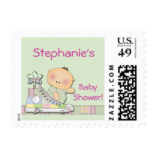 Personalized Baby Shower Postage Stamp