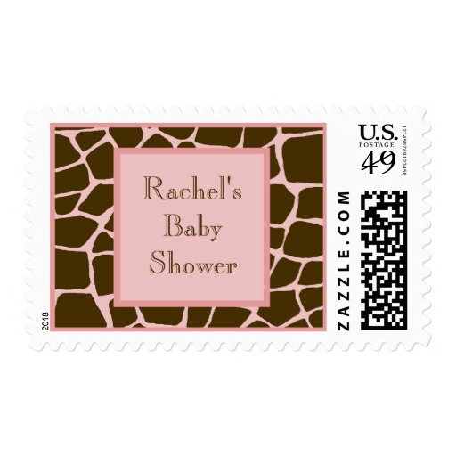 Baby Shower Stamps ~ Personalized baby shower postage stamp zazzle