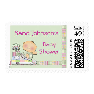 Personalized Baby Shower Stamp