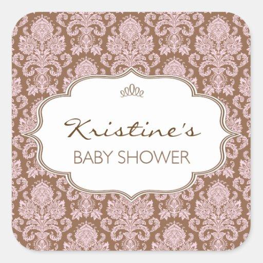 personalized baby shower sticker zazzle
