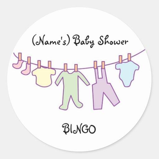 personalized baby shower sticker clothesline zazzle