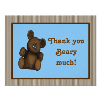 Personalized Baby shower thank you card Teddy Bear