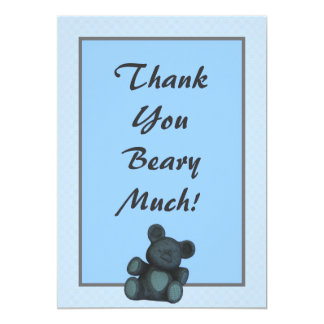 Personalized Baby shower thank you teddy bear Card