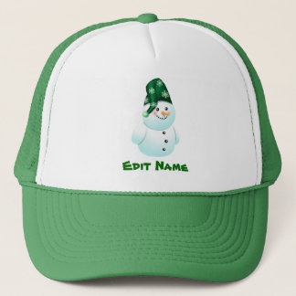 Personalized Baby Snowman Cartoon Trucker Hat