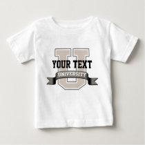 Personalized Baby University Baby T-Shirt