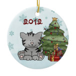 Personalized Baby's 1st Christmas Cat Ornament