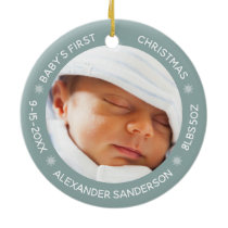 Personalized Baby's 1st Christmas Joy Ceramic Ornament