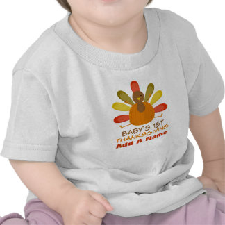 Personalized Baby's 1st Thanksgiving Turkey Tee