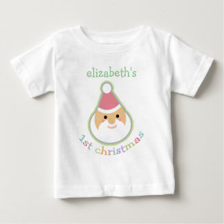 Personalized Baby's First Christmas Baby T-Shirt