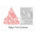 Personalized Baby's First Christmas Holiday Card Postcards