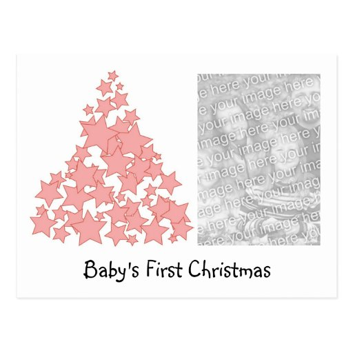 Personalized Baby's First Christmas Holiday Card Postcard