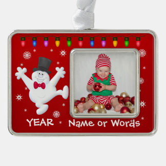 Personalized Baby's First Christmas Photo Ornament