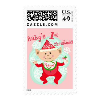 Personalized Baby's First Christmas Stamp