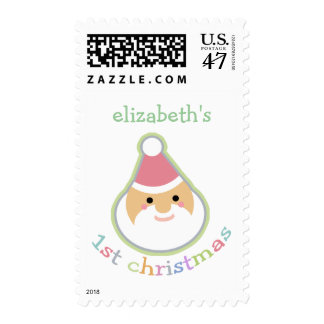 Personalized Baby's First Christmas Postage