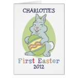 Personalized Baby's First Easter Greeting Cards